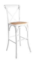 White Distressed Barstool