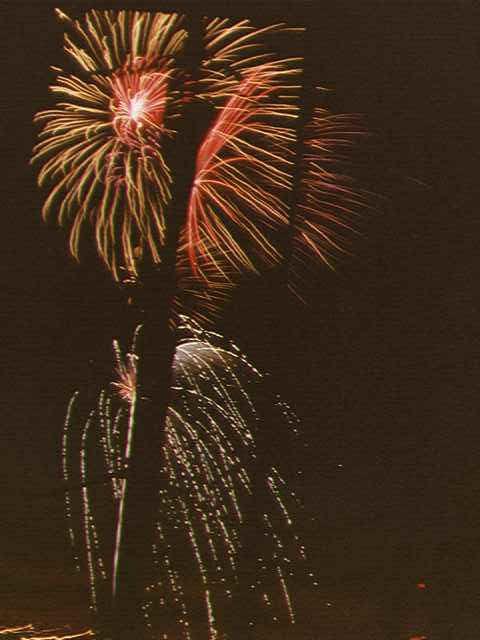 Fireworks in theshrouds
