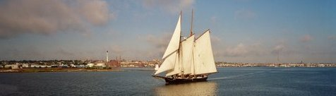Ernestina in New Bedford Harbor