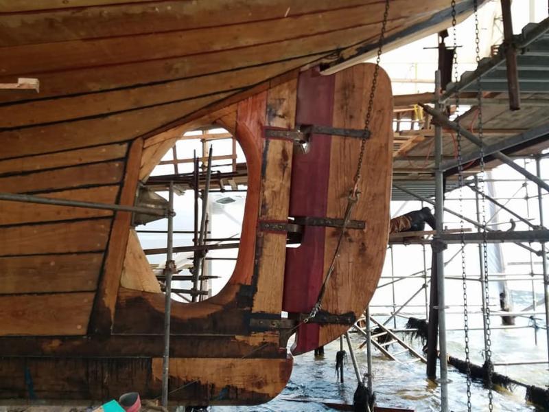 rudder hanging credit North Atlantic Shipbuilding _ Repair