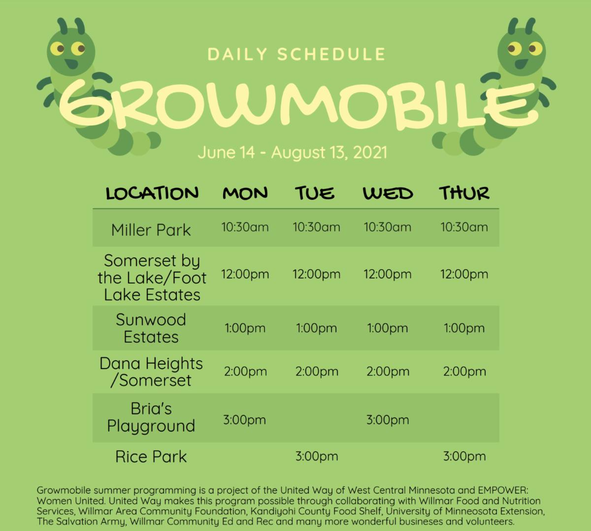 growmobile schedule