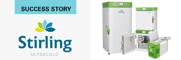 Stirling Ultracold logo and Ultracold brand refrigerators
