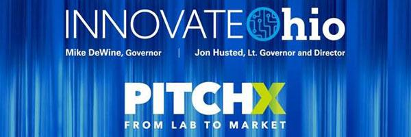 InnovateOhio and PitchX logos