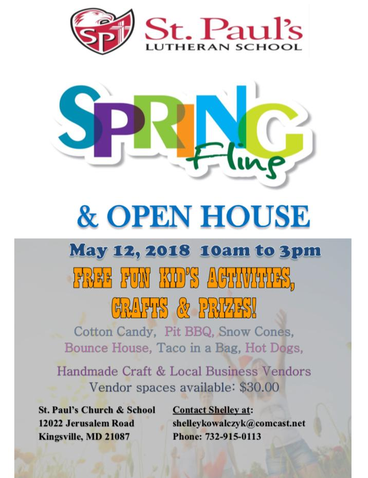Spring Fling Flyer And Vendor Contract