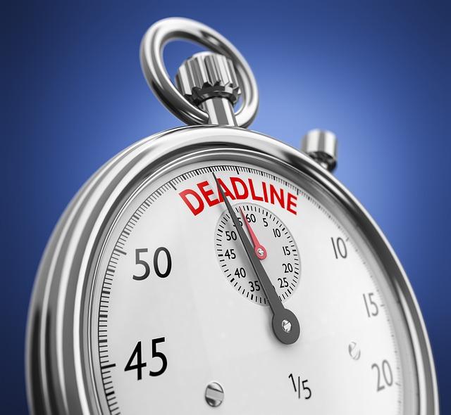 Deadline Approaching