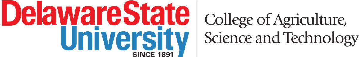 Delaware State University College of Agriculture, Science and Technology logo.