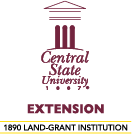 Central State University Extension logo.