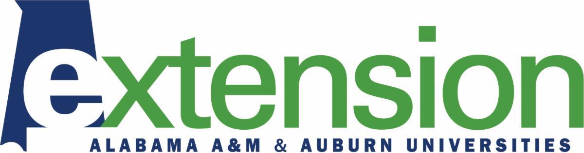 Alabama A&M and Auburn Universities Extension logo.