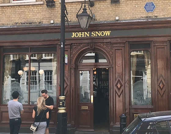 John Snow pub in Soho
