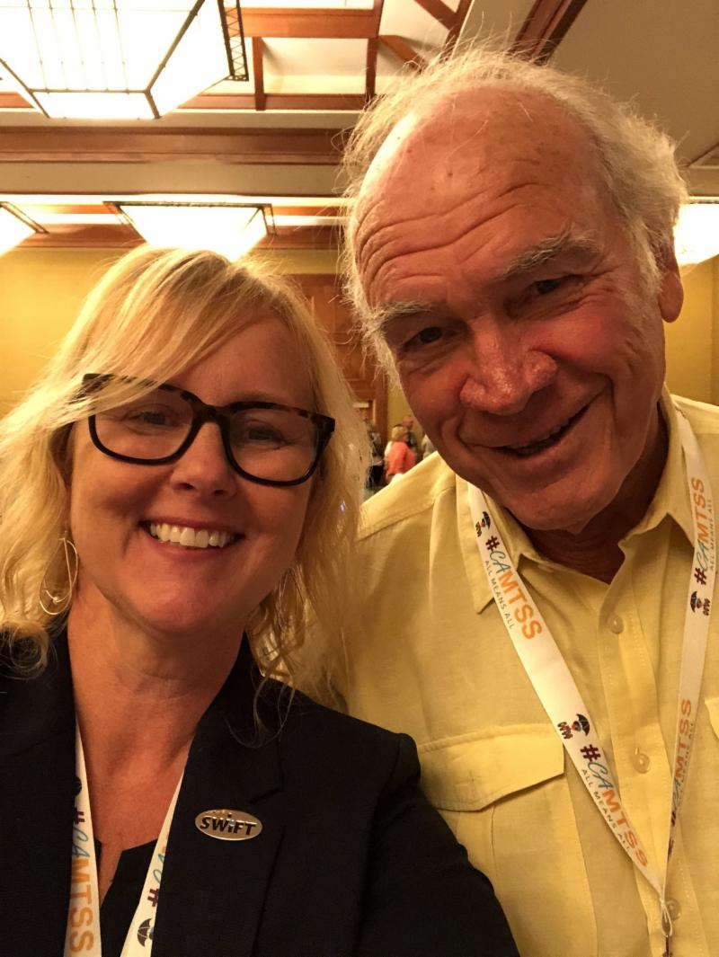 Amy McCart and Wayne Sailor at 2018 National Professional Learning Institute