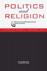 Journal of Politics and Religion cover