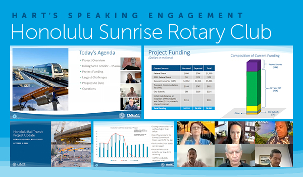 HART's Speaking Engagement - Honolulu Sunrise Rotary Club --- Click here to view the presentation
