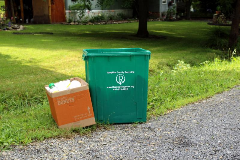 Set out recyclables out on time and  follow all of the guidelines. Sign up for automatic recycling reminders at  RecycleTompkins.org