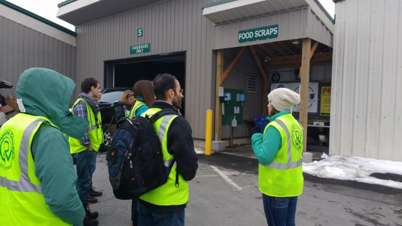 TCRMM Staff provide a tour of the Recycling and Solid Waste Center to local residents.