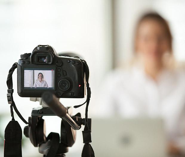 Person recording a video