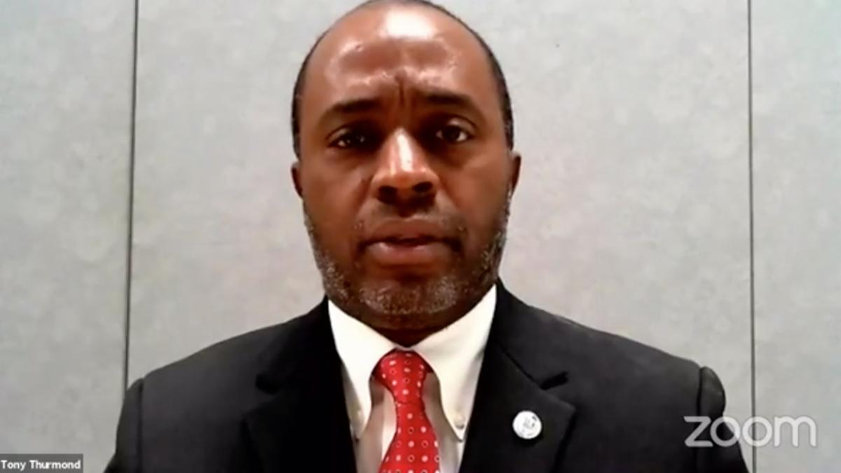 Screenshot of Tony Thurmond