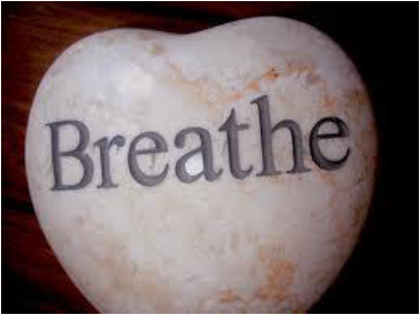 """Rock with the word """"Breathe"""" on it"""