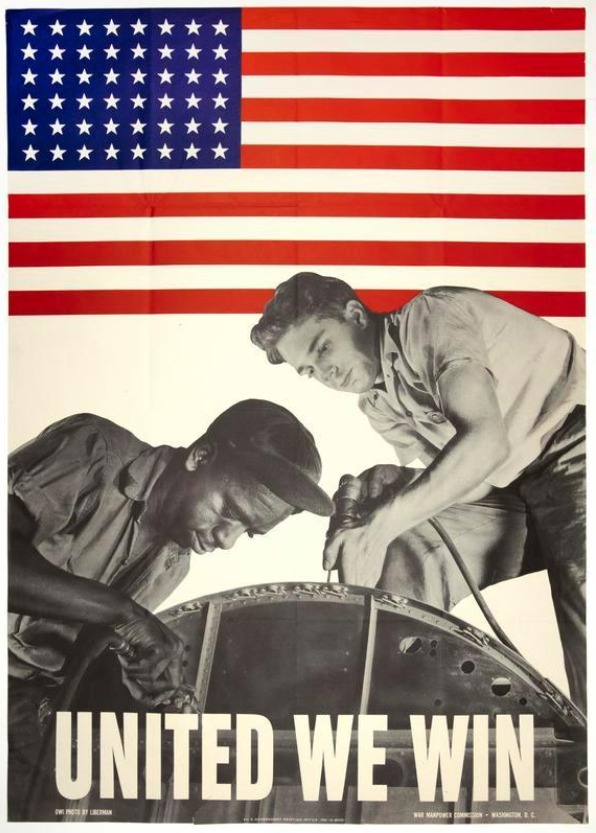 United We Win war poster