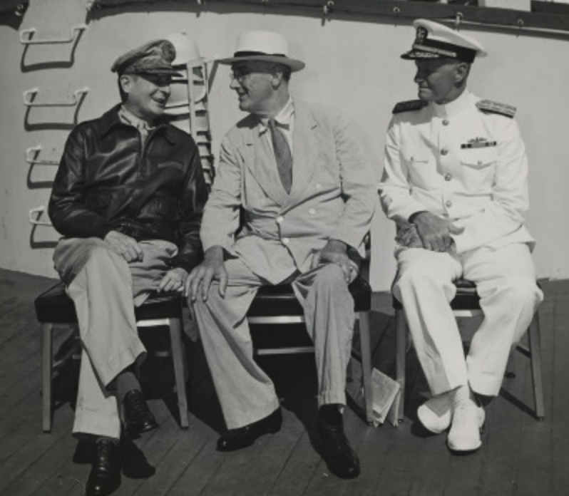 FDR with Nimitz and MacArthur