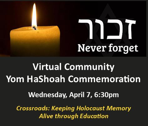 Yom HaShoah Virtual Event, April 7, 2021