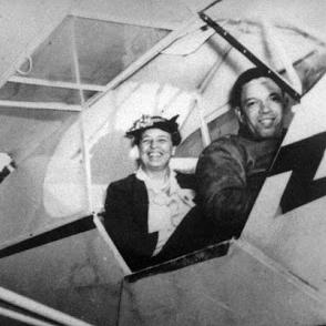 Eleanor with Tuskegee Airman