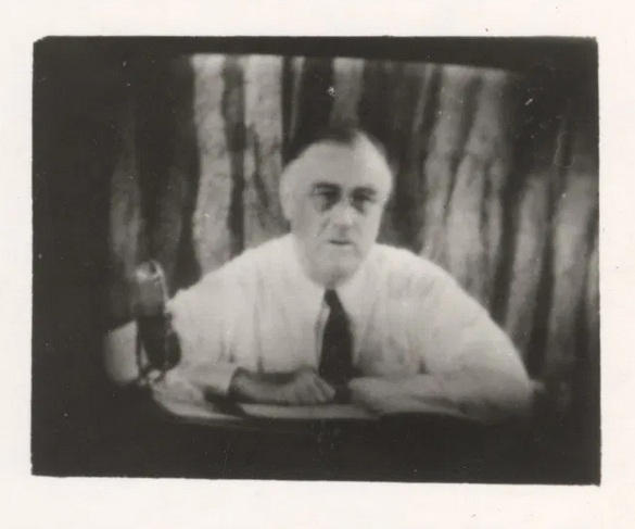 FDR on television in 1940
