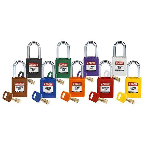 Brady SafeKey Locks - Nine Colors - Enhanced Security