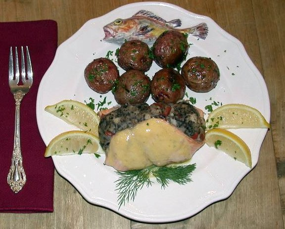 stuffed salmon fillet