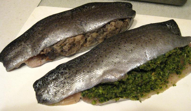stuffed trout raw