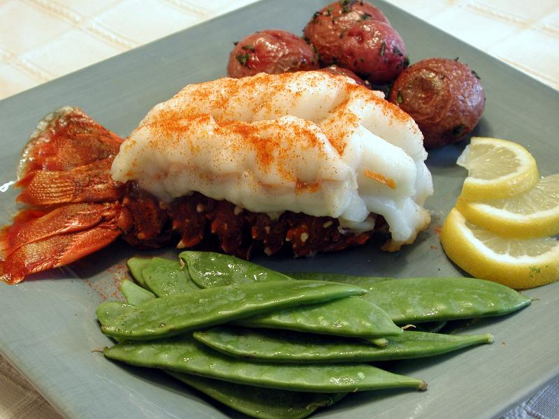lobster tail cooked