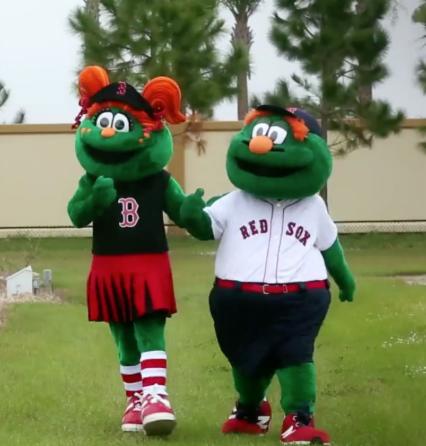 Red Sox mascots