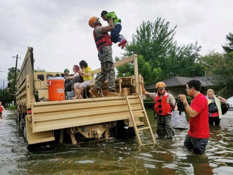 TX national guard help victims