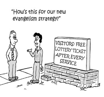 Comic look at evangelism