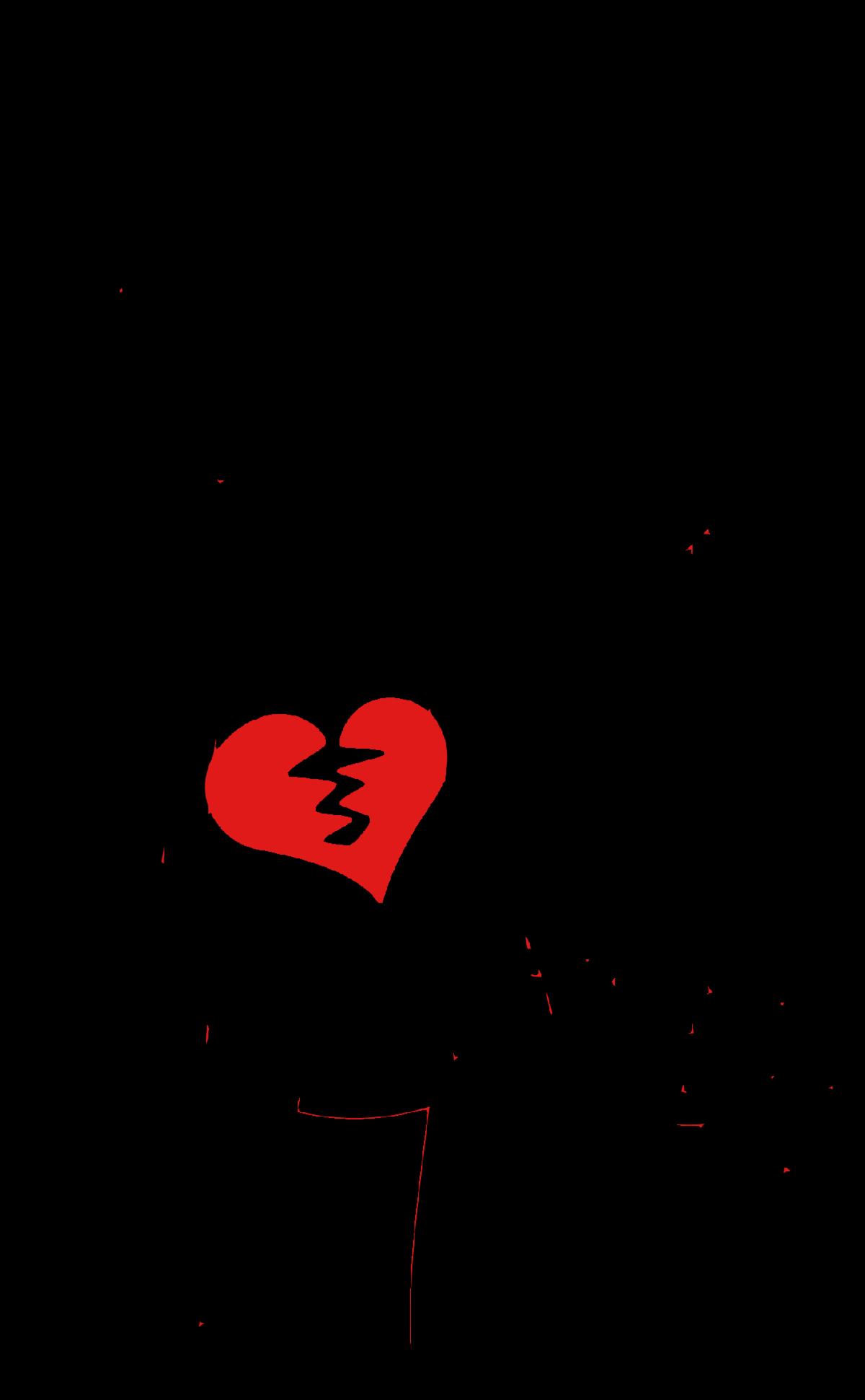 broken heart stick figure