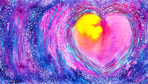 abstract colorful heart love mind mental spiritual soul soulmate inspiri...