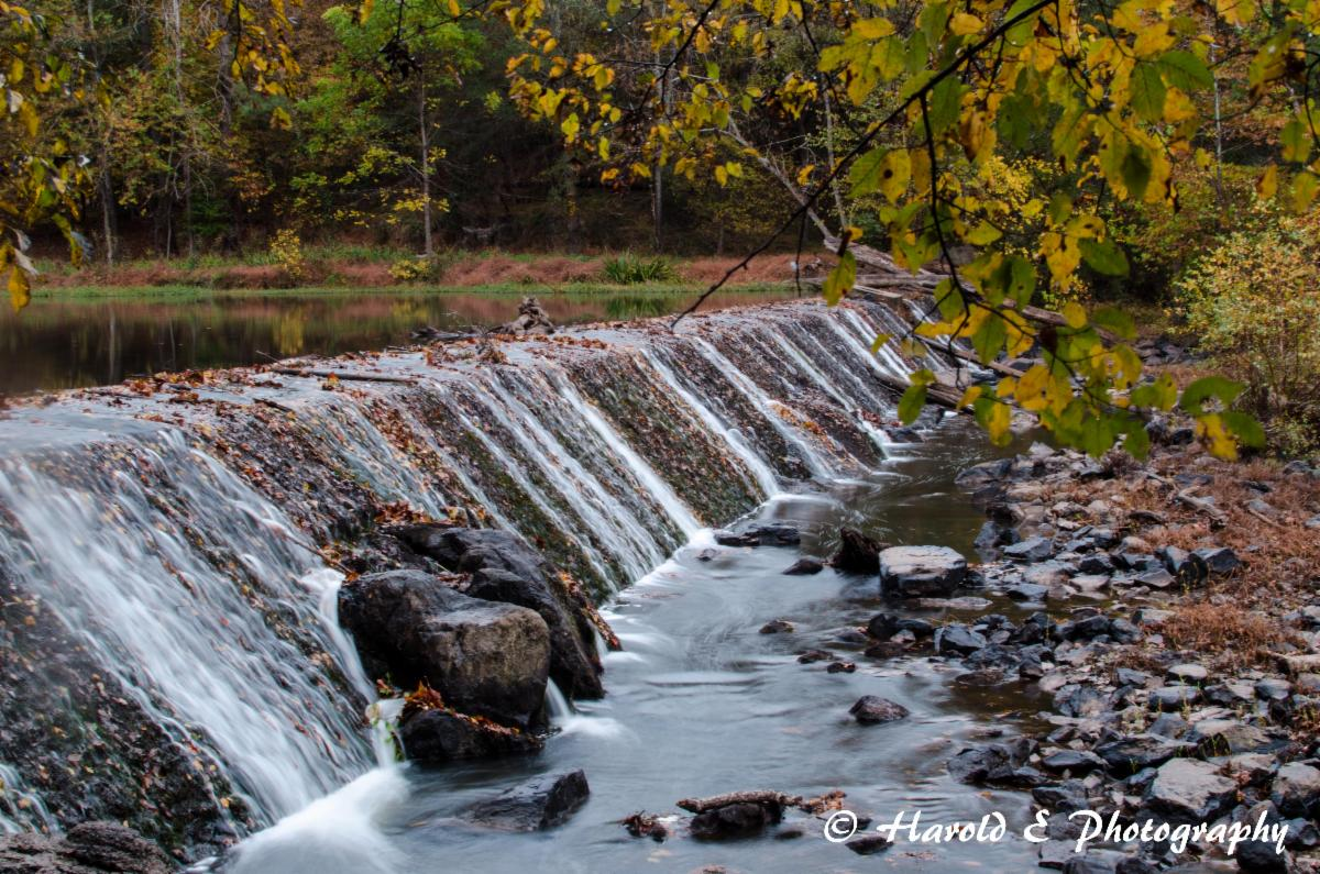 waterfall at the Eno River Park in Durham_ NC