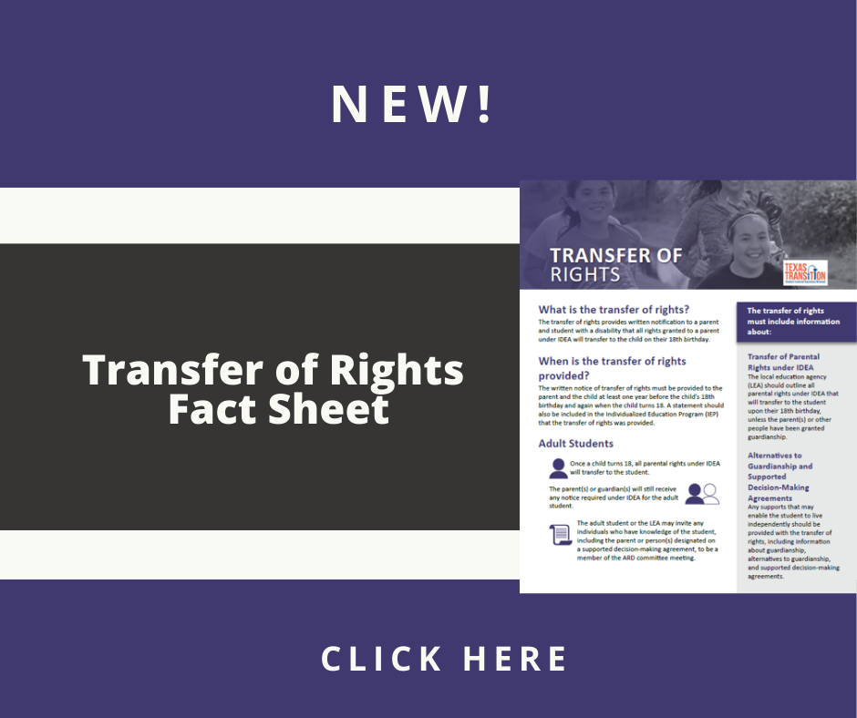 Cover of the Transfer of Rights Fact Sheet