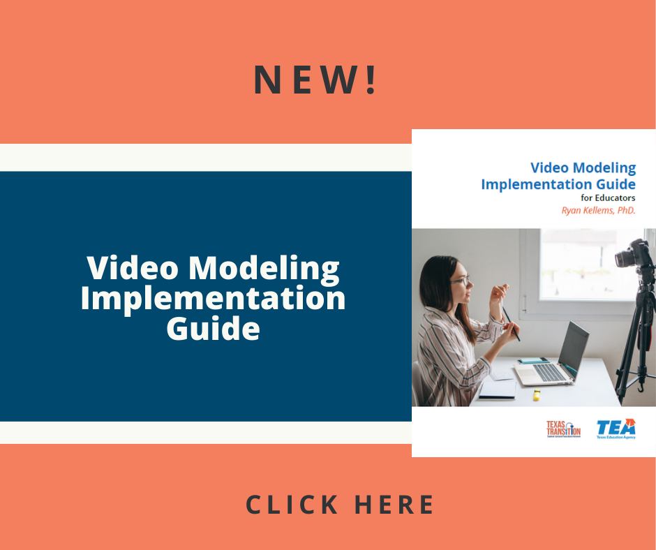 Picture of video modeling implementation guide with a woman sitting in front of her computer with a camera on the cover