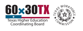 Logo for Texas Higher Education Coordinating Board and Texas Workforce Commission