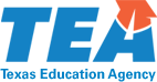 Blue and orange logo for the Texas Education Agency