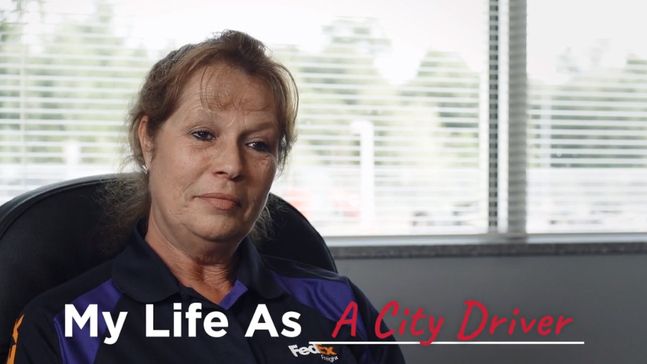 """Mary Kelldorf, a city driver with FedEx is featured in a new """"My Life As..."""" career exploration video from UpSkill Houston."""