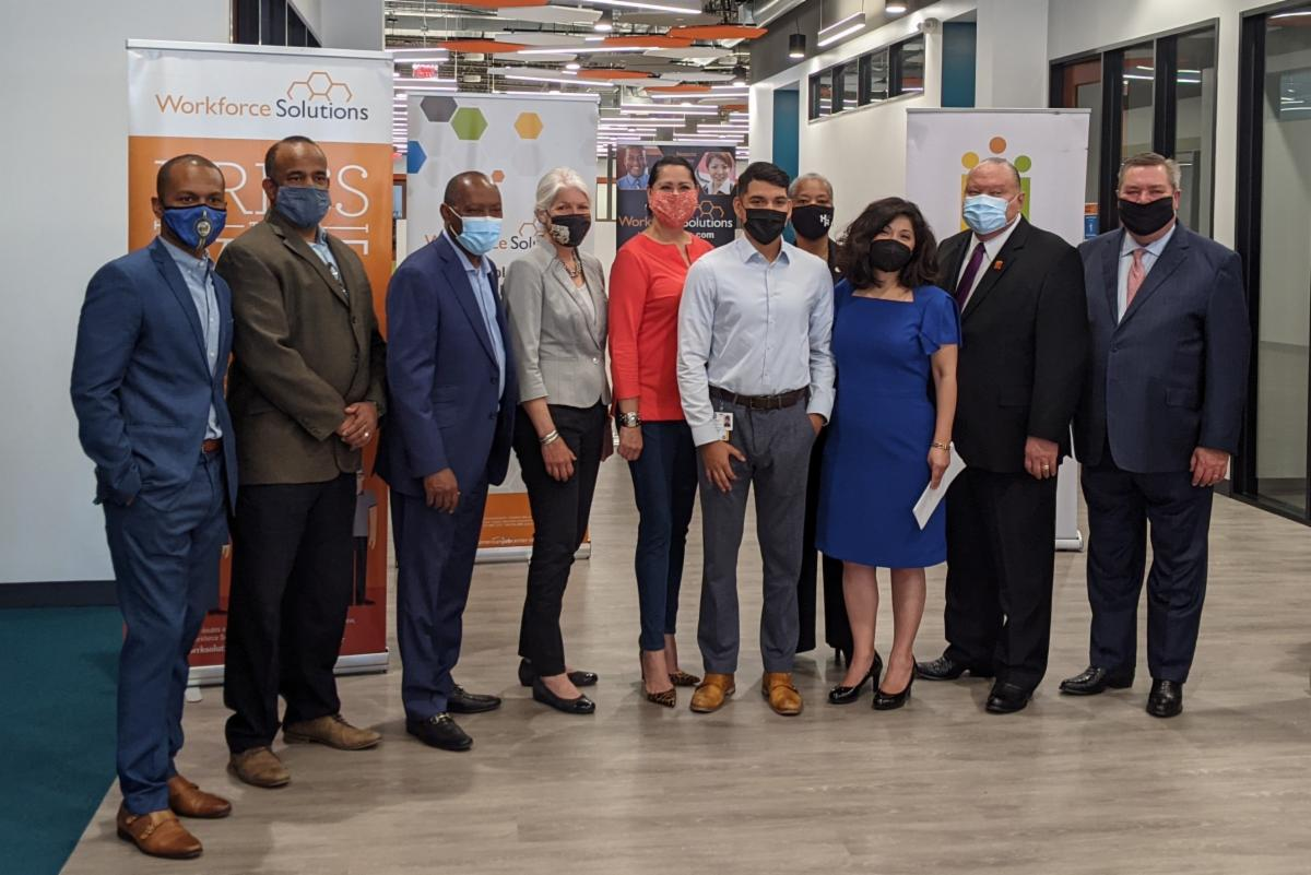 Houston Mayor Sylvester Turner and partners announce the 2021 Hire Houston Youth program