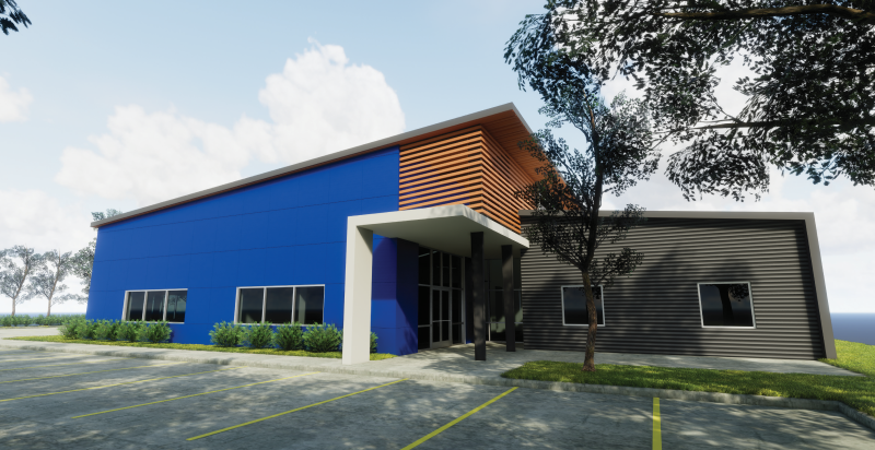 A rendering of SERJobs' new workforce training center