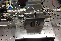 An experimental rocket engine to collect beamed microwave energy to heat propellants to plasma temperatures.