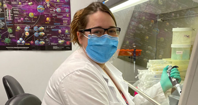 Jennifer Hope PhD in lab
