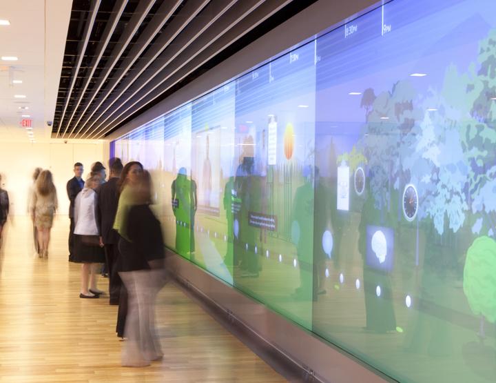 Kaiser Permanente Total Health Centre GestureTek Video Wall