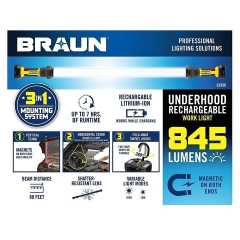 Picture of a brochure for a Braun assistive technology work light
