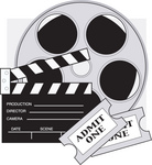 Movie Reel, Tickets, and Snappy Thing