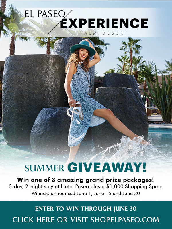 Enter the El Paseo Experience Summer Giveaway! Win one of 3 amazing grand prize packages! Enter to win through June 30.