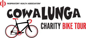 CowaLUNGa Charity Bike Tour logo with bicycle icon